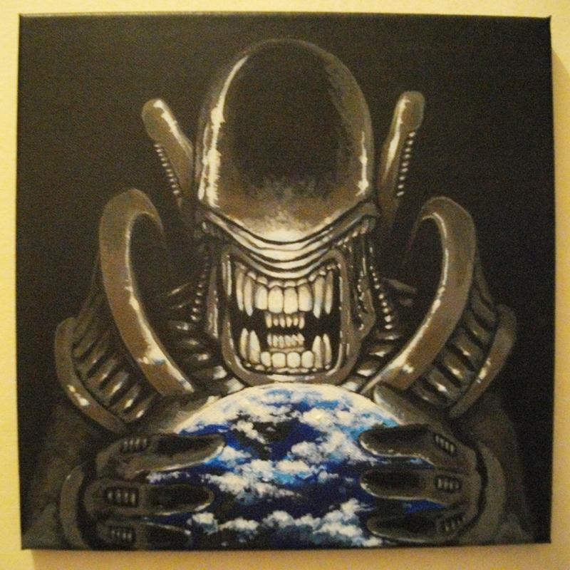 2015 - Peinture Alien - 001